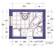 Wanne, Dusche, Wc, Waschtisch Und Platz Für Waschmaschine Auf 6,96 Qm Kleines Badezimmer Grundriss